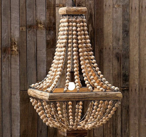 Beaded Farmhouse Chandelier