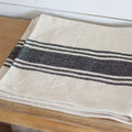 Black Stripe Cotton Table Runner