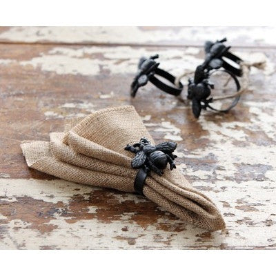 Cast Iron Bumble Bee Napkin Rings