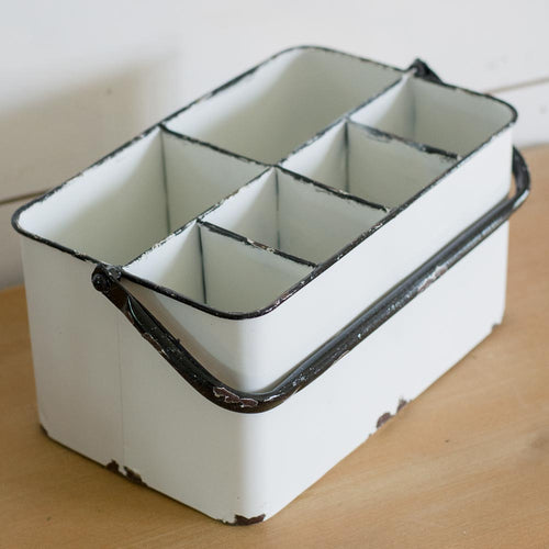 Enamel Metal Caddy