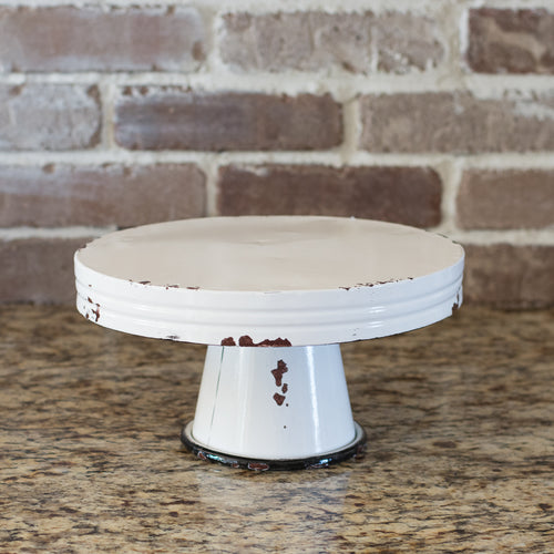 Medium Enameled Cake Stand