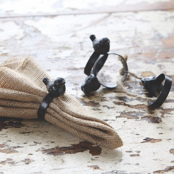 Cast Iron Bird Napkin Rings - Gin Creek Kitchen