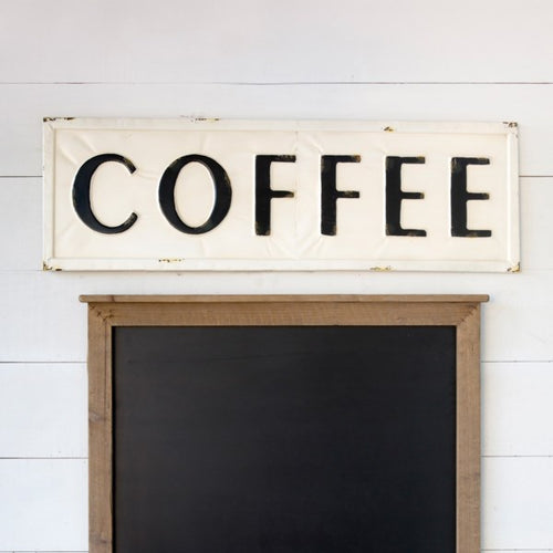 Vintage Inspired Metal Coffee Sign