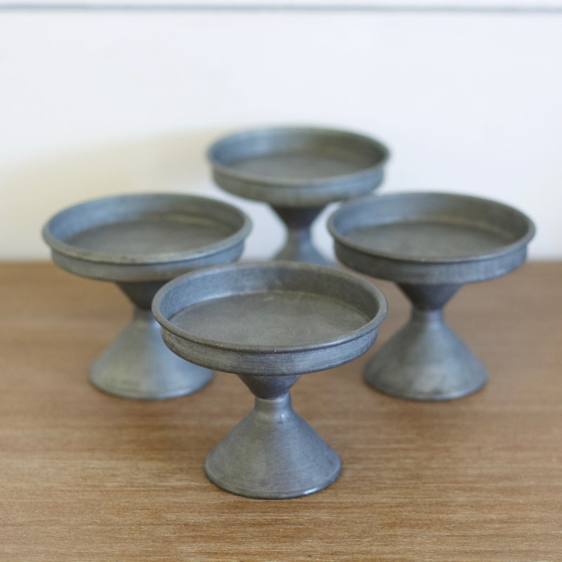 Tin Cupcake Stands, set of 4