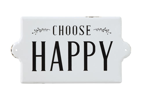 Choose Happy Wall Plaque