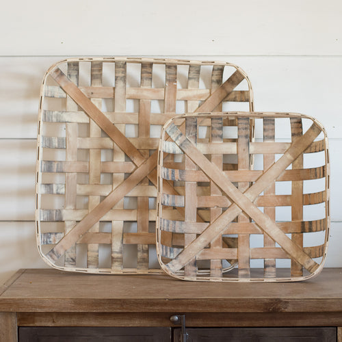 Square Tobacco Basket Set