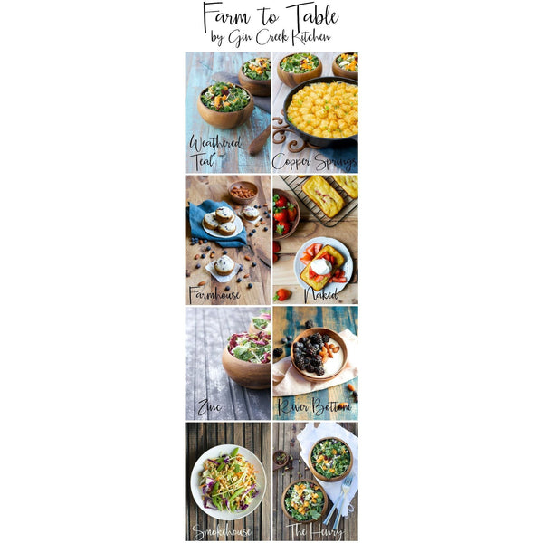 Zinc Wooden Photography Board - Gin Creek Kitchen  - 2