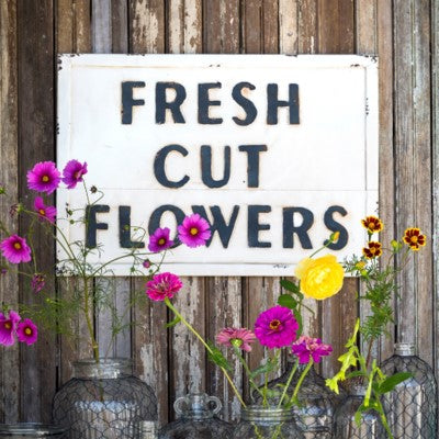 Rustic Fresh Flower Sign