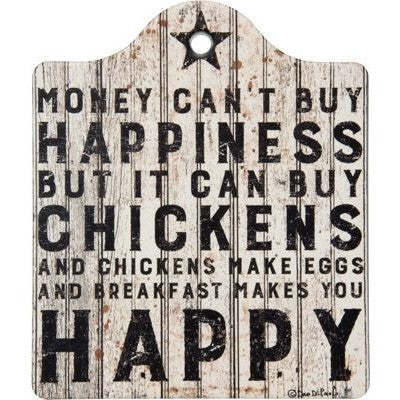 Happiness and Chickens Trivet