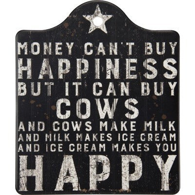 Happiness and Cows Trivet