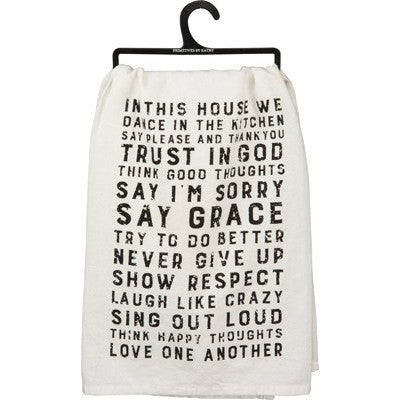 """In This House"" Dish Towel"