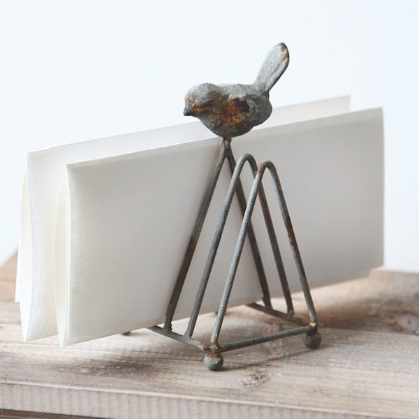 Metal Bird Letter Holder - Gin Creek Kitchen