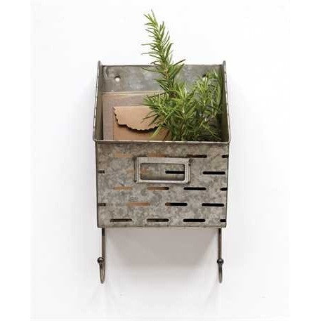 Metal Olive Wall Bucket