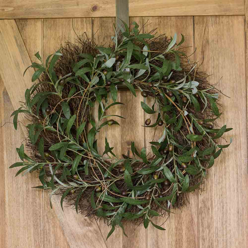 Gathered Olive and Twig Wreath