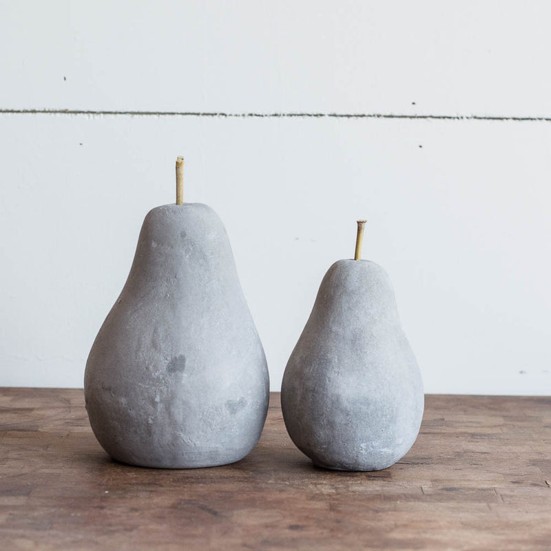 Cement Pear Decor
