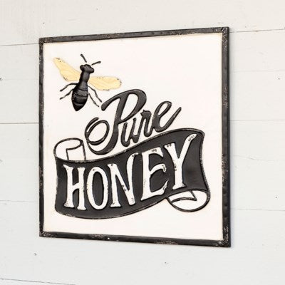 Pure Honey Metal Sign