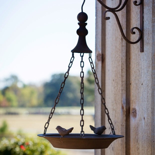 Rust Finish Hanging Bird Feeder