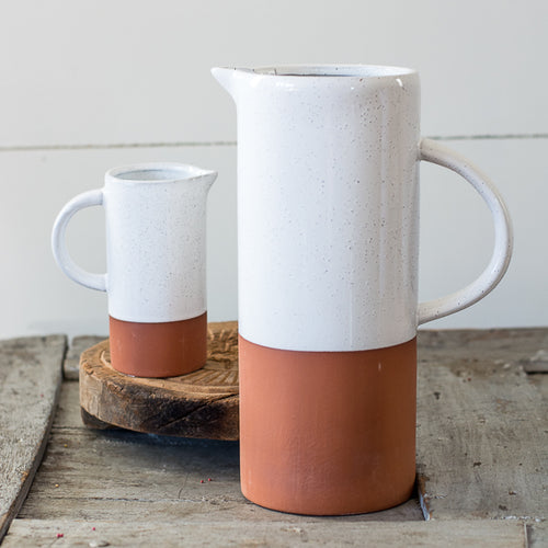 Terra Cotta Stoneware Pitcher