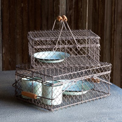 Wire Lunch Box Basket