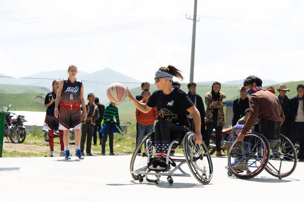Paralympians on the Plateau - Norlha Introduces Wheelchair Hoops