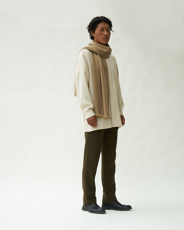 Nomad Classic Skinny Scarf (Natural White Base)