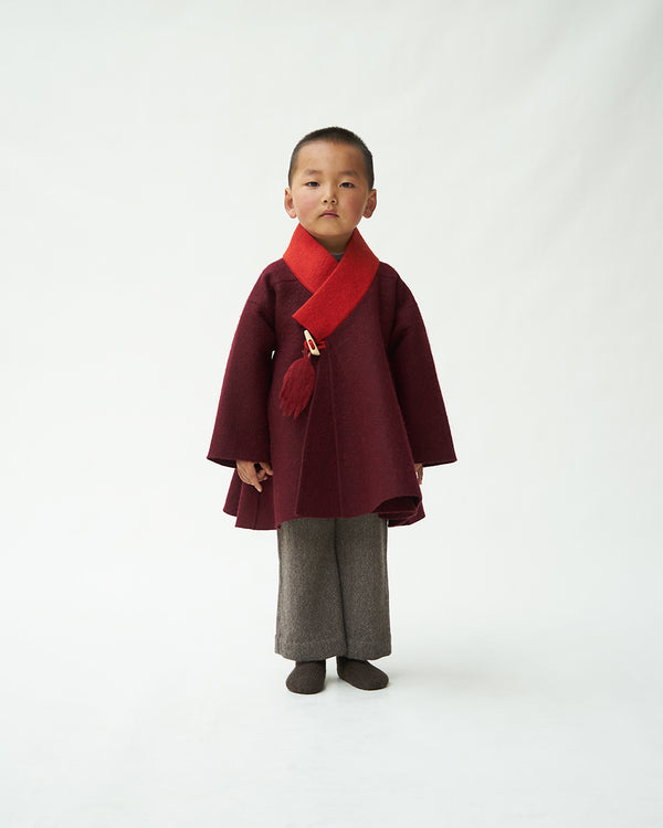 Children's Cropped Folk Coat
