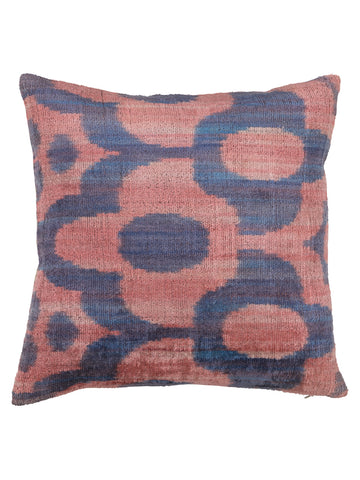 PILLOW VELVET PINK FLOWER M