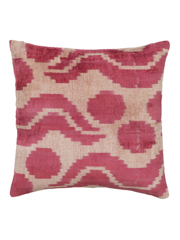 PILLOW VELVET PINK GRAPHIC M