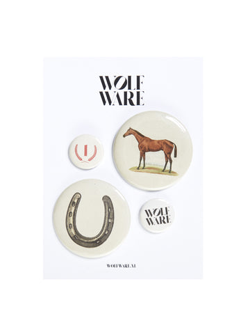 BUTTON PACK LUCKY NUMBER ONE HORSE