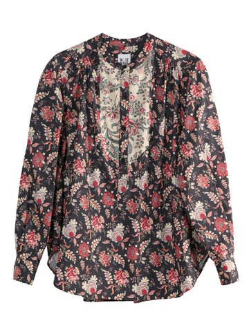 Alain Shirt Charcoal Flower