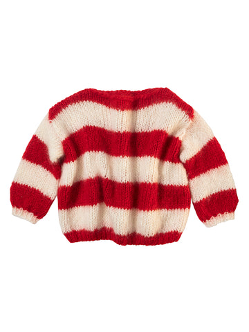 BULY CREAM RED SWEATER
