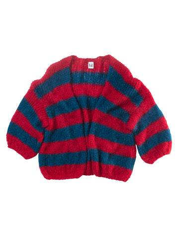 BULY RED BLUE CARDIGAN