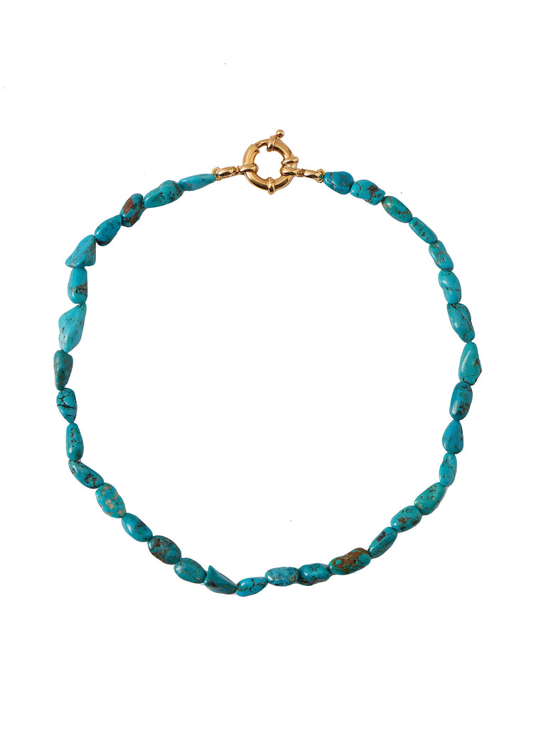 PERLA BY EENVOUD CHUNKY TURQUOISE NECKLACE