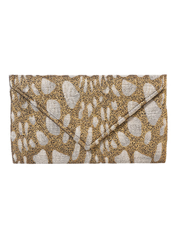 GOLD ENVELOPE CLUTCH SMALL