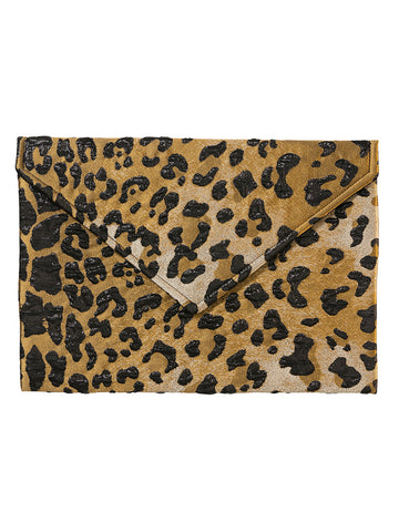 LEOPARD ENVELOPE CLUTCH LARGE