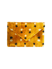 VELVET SILK ENVELOPE CLUTCH