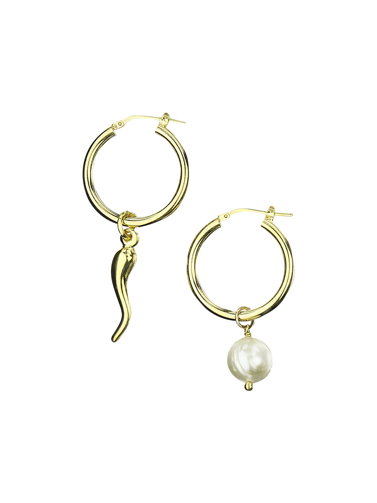PERLA BY EENVOUD SPICY PEARL HOOPS
