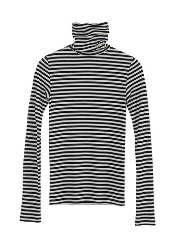 RUBY TURTLE NECK BLACK/WHITE