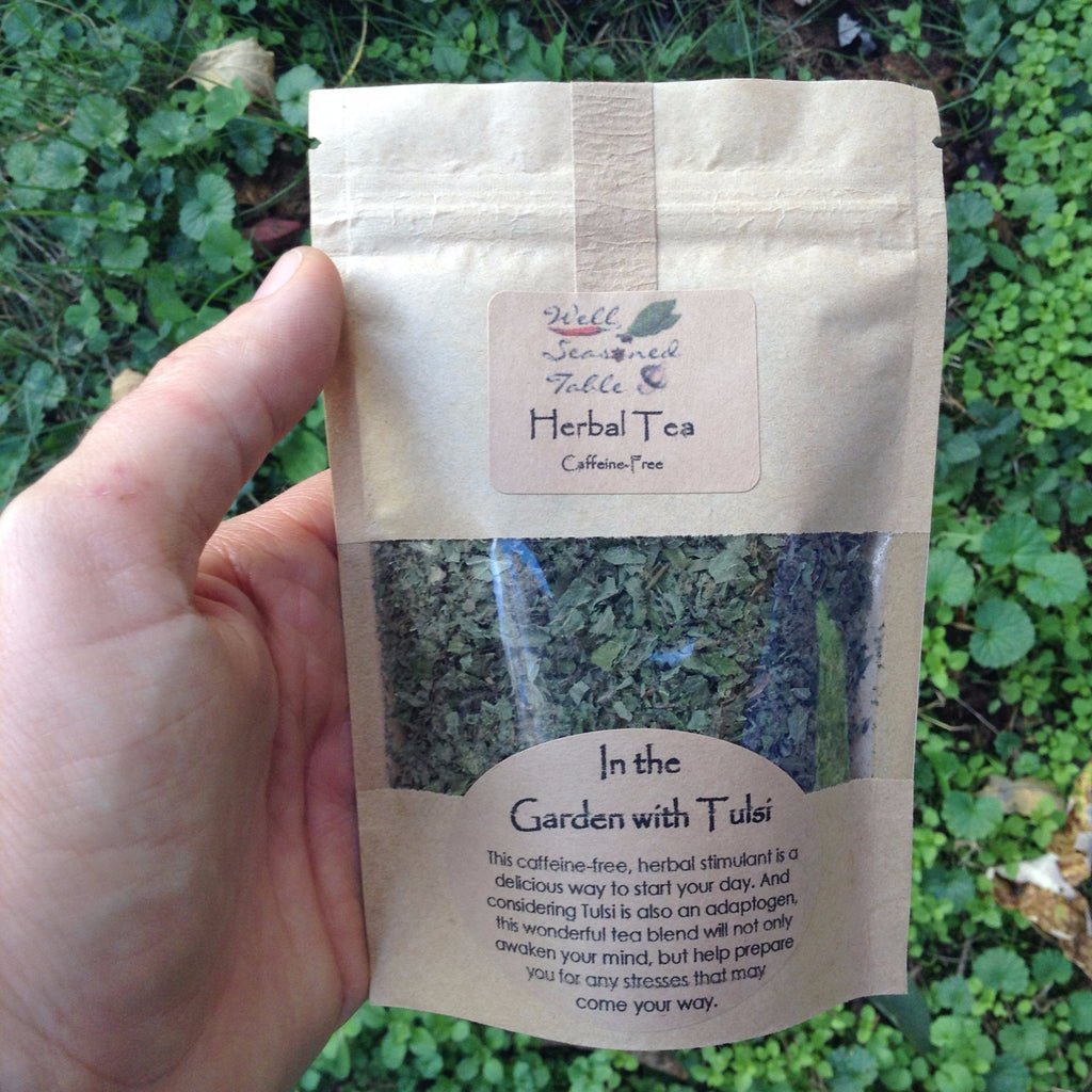 In the Garden with Tulsi Tea - Culinary - Asheville Fungi