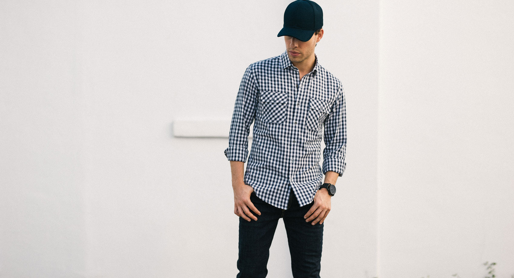 Dark Burgundy White Pindot Shirt on Model