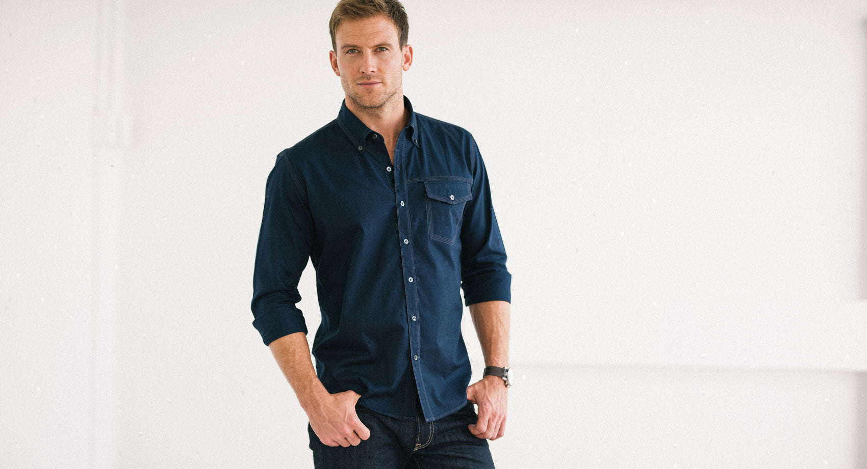 Black Casual Men's Shirt
