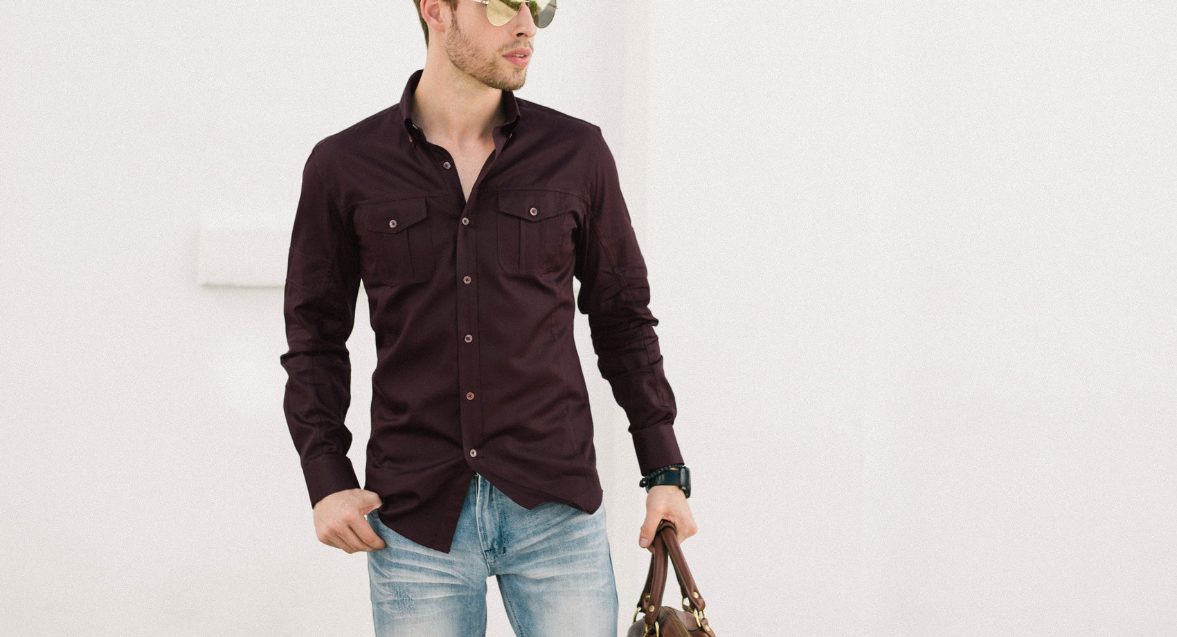 Black Men's Utility Shirt