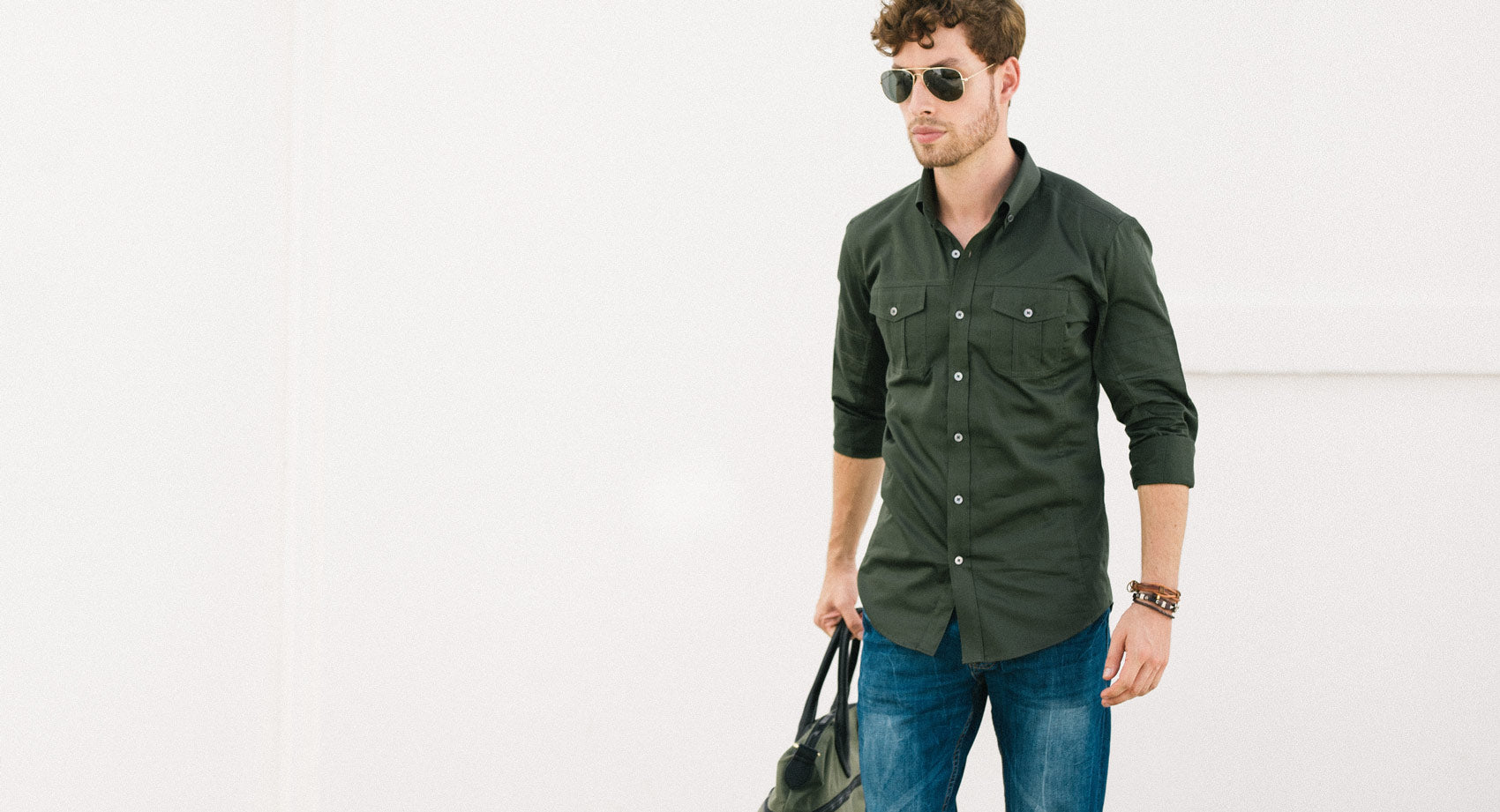 Olive Green Utility Shirt