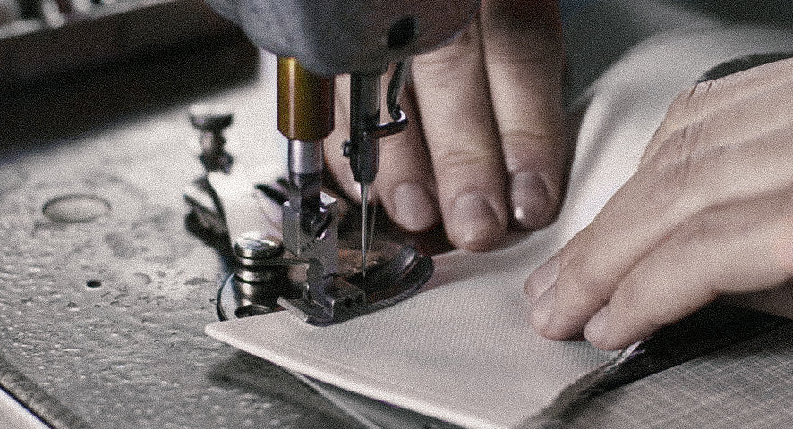 Small Batch Shirt Being Sewn by Tailor