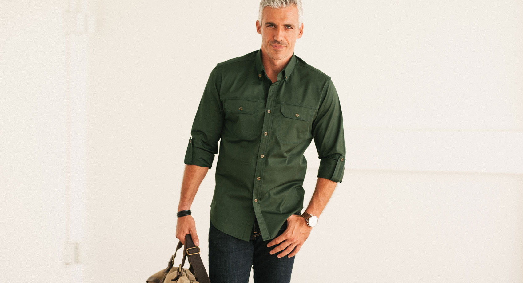 Men's Builder Casual Button-Up Shirt