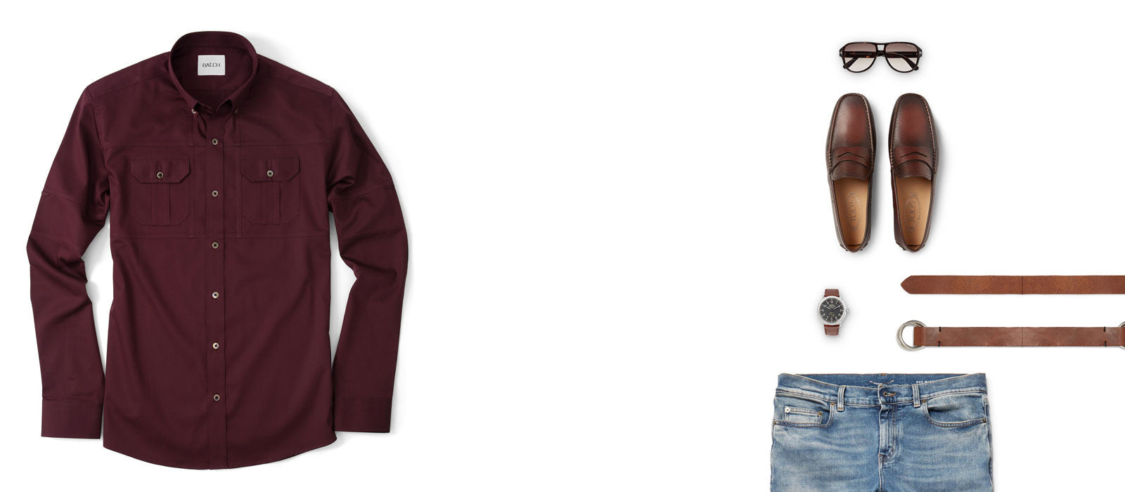 Burgundy Utility Shirt Outfit
