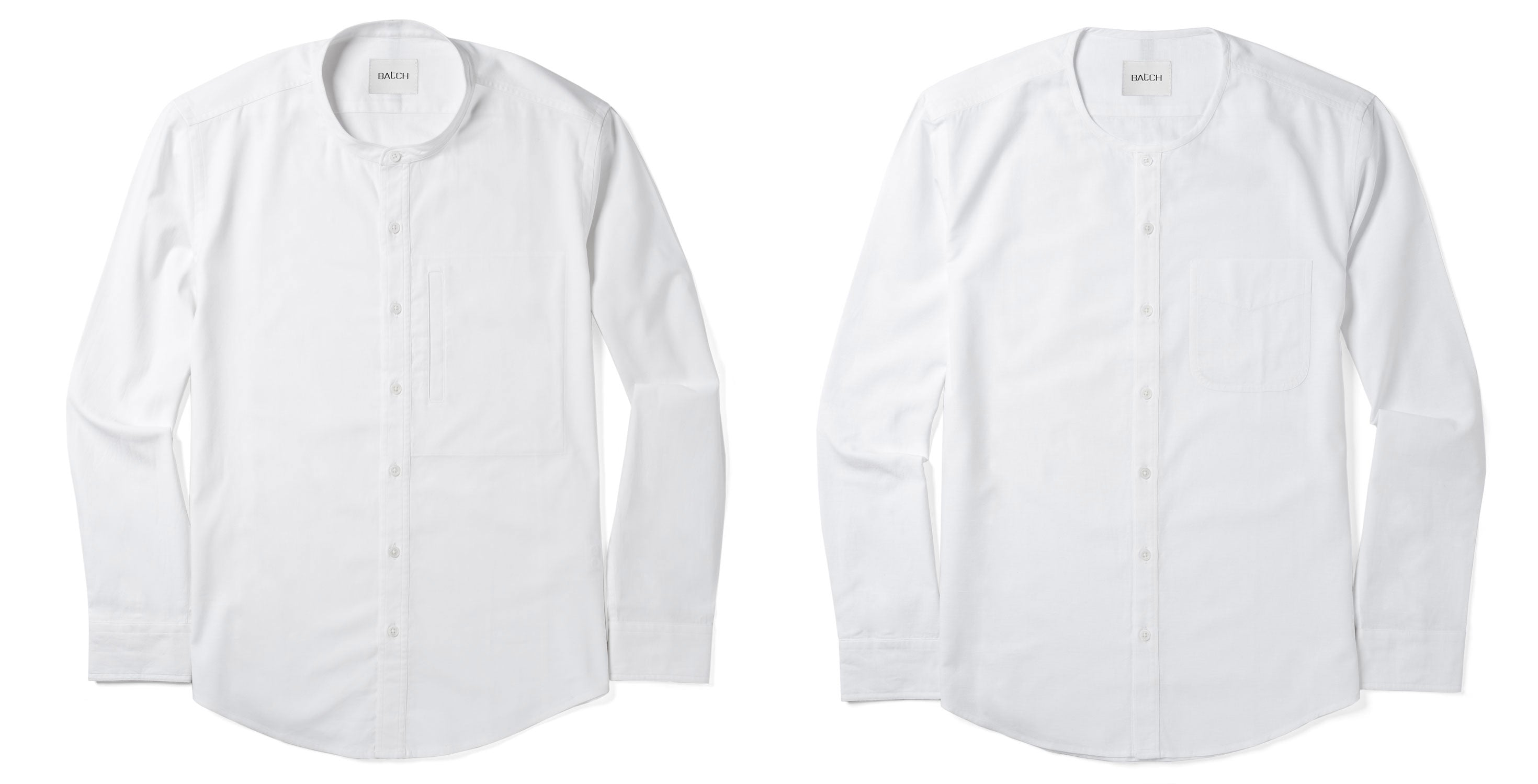 Band Collar Shirt Vs Collarless Shirt Image