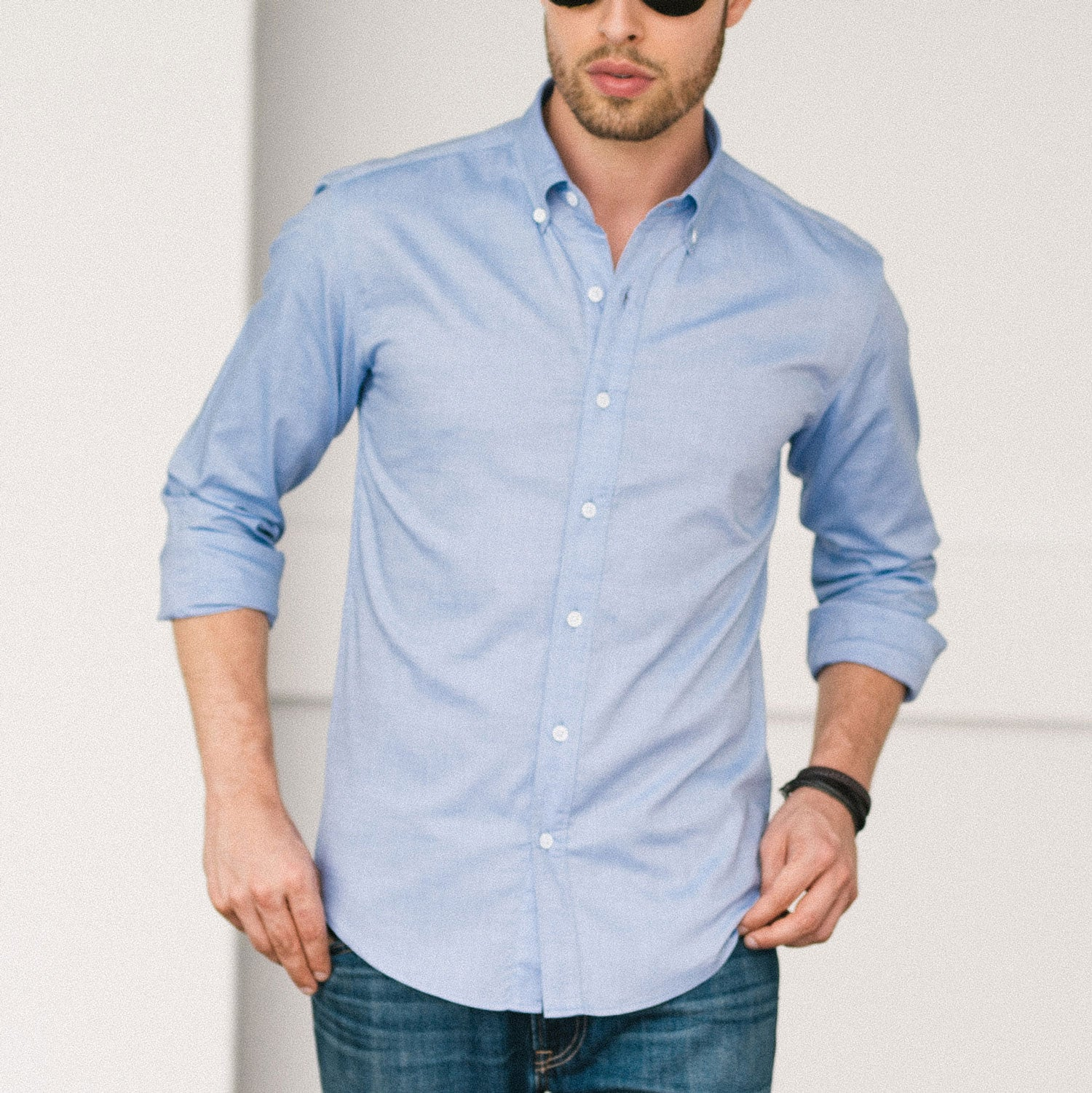 Dress shirt with tailored fit