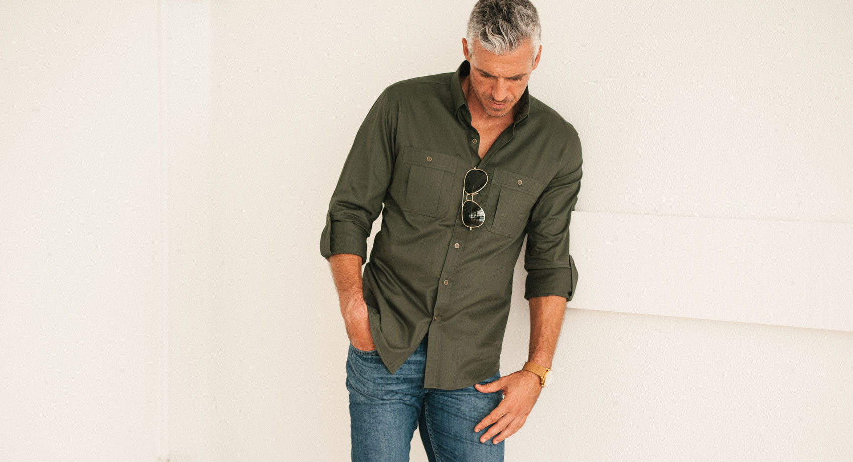 Fixer Men's Utility Shirt in Black