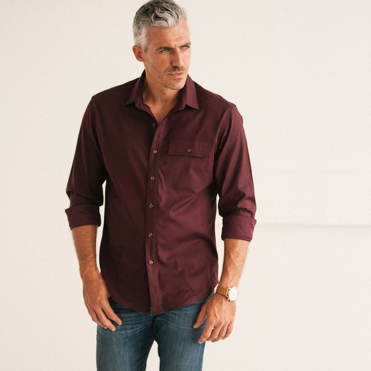 Men's Casual Shirt Buttons Pulling Versus Correct Fit